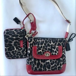 Coach Ocelot With Matching Wristlet NWOT